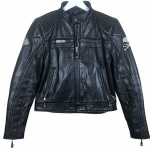 First Classic Leather Gear Jacket Harley Davidson